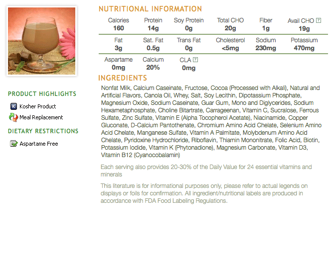 Nutrimed 160 Chocolate Shake